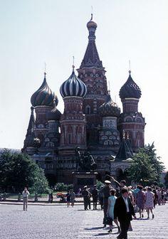 Sowjetunion - Moskau - Roter Platz - Basilius-Kathedrale. (1972)