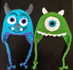 Mike or sully monster crochet hat baby newborn child toddler on Etsy, $20.00