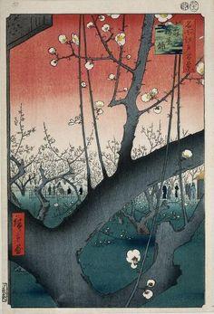 Plum orchard at Kameido Shrine, 1857, Utagawa Hiroshige. www.rijksmuseum.nl