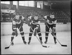 Clapper, Kamensky, and Barry, Boston Bruins, 1934-35