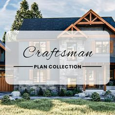 A Craftsman style home makes a big statement. Craftsman homes are typically built from stone, brick, and real wood. They are also well-known for their low-pitched overhanging roofs and column-heavy front porches.