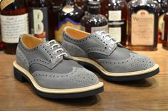 LEATHER SOUL RELEASE A NEW BALANCE INSPIRED TRICKER'S ALL GREY M7292GY BROGUE