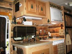 Couple Gets Closer to Nature with a Custom Log Cabin Interior in an RV! Can you believe it?