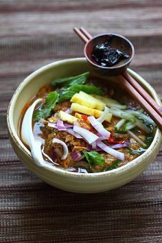 Penang Assam Laksa is ranked #7 as CNN World's Most Delicious Foods. #malaysian