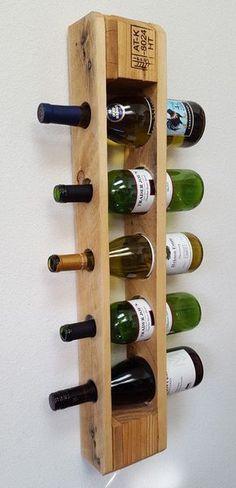 #Wein #Paletten #Regal - Wiedergewonnenen Palette Wine Rack. von BlueFoxFurnishings auf Etsy