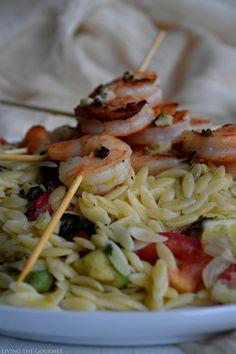Living the Gourmet: Lemon Basil Shrimp Skewers featuring HelloFresh