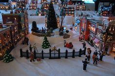 Snow village for Christmas!