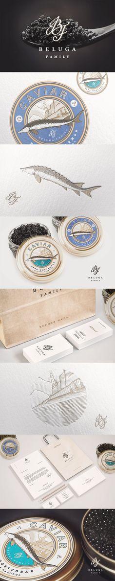 BELUGA // Identity design // Dmitry Gerais #caviar