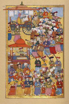 Levni Middle Eastern Clothing, Turkish Art, Old Paper, Modern Warfare, Central Asia, Illuminated Manuscript, Islamic Art, Miniatures, Fine Art