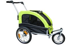 Booyah Medium Dog Stroller and Pet Bike Trailer and with Suspension - Florescent Green *** To view further, visit now : Products for dogs