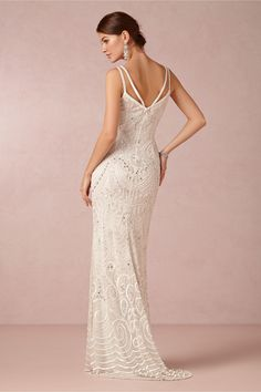 Elsa Gown in Bride Wedding Dresses at BHLDN. It has a DETACHABLE SKIRT! I kid you not.