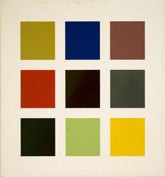 """socialclaustrophobia: """" Gerhard Richter (German, b. 1932), Farbtafel [Colour Chart], 1966. Enamel paint on canvas, 70 × 65 cm Catalogue Raisonné: 139-3. """""""