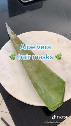 Hair Growing Tips, Grow Hair, Hair Tips Video, Hair Curling Tips, Diy Hair Treatment, Aloe Vera Hair Mask, Diy Hair Mask, Vitamins For Skin, Aesthetic Hair