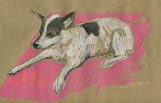 Commission a portrait of your pet, like this gem from Happy Menocal!