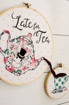 Last year I had the fun of working with Melissa Mortensen's gorgeous fabric line, Wonderland. I made up a fun hoop set and a pillow – they are still some of my favorite projects to date! Well Melissa has worked her magic again and her new fabric line, Wonderland Two is out in stores now. …