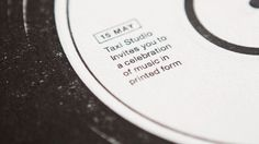 Taxi Studio: A Festival of Print – The B-Side Project