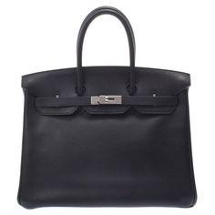 Sacs à main Hermès HERMES BIRKIN Cuir Noir ref.192015 - Joli Closet