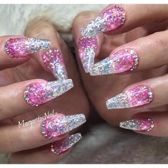 Creativity for Kids Glitter Nail Art - Glitter Manicure Kit for Kits - Cute Nails Club New Year's Nails, Hot Nails, Hair And Nails, Nails 2016, Fabulous Nails, Gorgeous Nails, Pretty Nails, Ongles Bling Bling, Bling Nails