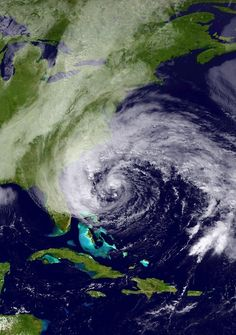 Hurricane Sandy seen from space!  Your impressions? NOAH photograph.  Our Space Ship Earth