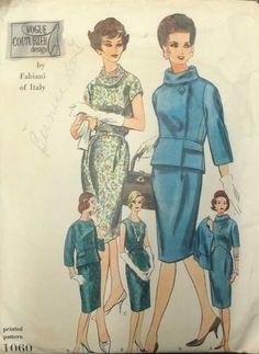 Vtg 50s 60s 1961 Vogue Couturier Design Fabiani Dress Jacket Pattern Sz14 | eBay