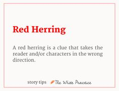 Red herring, story tip for writiers » How To Win a Writing Contest