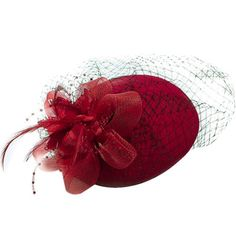 Outgeek Vintage Feather Flower Veil Pillbox Hat Hair Accessories Wedding  Bridal Party Clothing Accessories for Women 14b2cdd5564f