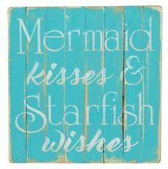 Mermaid Kisses Beach Sign
