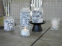 DIY Decorative jars and or candle holders