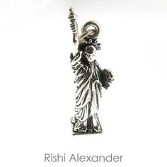 925 Sterling Silver Statue of Liberty Lady Liberty Charm Made in USA