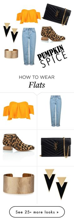 """Pumpkin Spice/Naughty N' Nice"" by staceycordell on Polyvore featuring Topshop, Boohoo, Alexander Wang, Yves Saint Laurent and Panacea"
