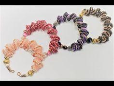 Piroette Bracelet - YouTube Peyote Stitch, Step By Step Instructions, Spiral, Crochet Necklace, Pearls, Bracelets, Albums, Wave, Beading