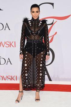 June 1, 2015 - Kim Kardashian in custom Proenza Schouler at the CFDA Awards   - HarpersBAZAAR.com