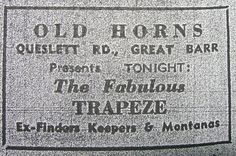 Trapeze ~ Saturday, April 19th, 1969