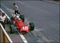 Lorenzo Bandini, Ferrari, #18, (RET-fatal accident),  Monaco GP, 1967.