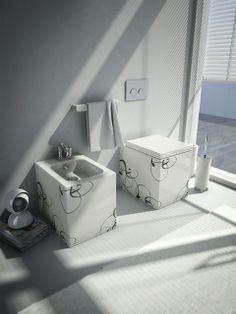 Block, design Meneghello Paolelli Associati. #sanitari #sanitaries #design #bathroom #ArtCeram #decor