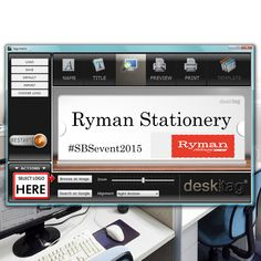 Here's a behind the scenes look into our tagcreator™ app which you can use to create your very own custom #nametag complete with your #corporate fonts, colours and logo  You are the brand #desktag #office #officemanager #rymanstationery #stationery #facman #facilitiesmanagement