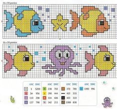 Cross Stitch Sea, Butterfly Cross Stitch, Cross Stitch Charts, Cross Stitch Designs, Cross Stitch Patterns, Pixel Crochet, Crochet Motif, Hama Beads Disney, Baby Shop