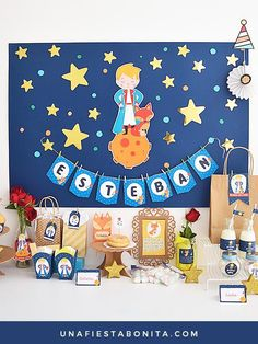The Little Prince Party Kit Printables. Complete Set The Little Prince Birthday Party. the Little Prince set printable. Prince Birthday Theme, Boy Birthday Parties, Little Prince Party, The Little Prince, Kindergarten Graduation, Party Poster, Party Kit, New Years Party, Baby Boy Shower