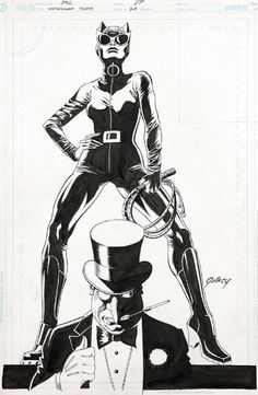 Catwoman and Penguin by Paul Gulacy