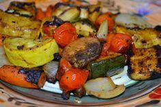 Balsamic Vegetable Non Kabobs - Mrs Happy Homemaker(so easy!)