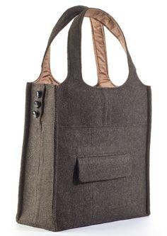 Evon Cassier. Bag from thrift store suit