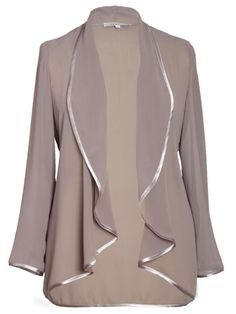£85 Cappuccino Satin Trim Chiffon Jacket ( goes well with chiffon trousers)