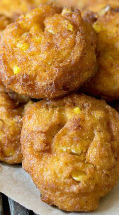 Corn Fritters Pumpkin Corn Fritters - You'll never make plain ol' corn fritters again after trying this recipe! The pumpkin in the batter adds great flavor!Tries Tries may refer to: Thanksgiving Recipes, Fall Recipes, Indian Food Recipes, Holiday Recipes, Holiday Foods, Holiday Ideas, Corn Fritter Recipes, Native Foods, Corn Fritters