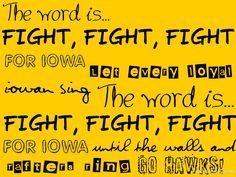 Iowa Hawkeye Fight song