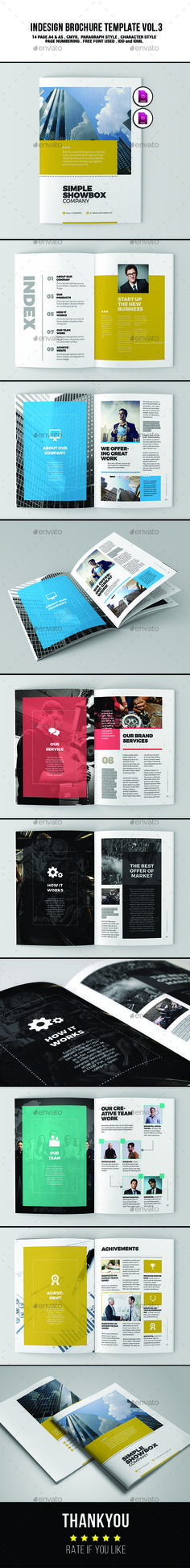 Indesign Brochure Template Vol.3  — InDesign Template #modern #indesign #style…