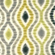 Ikat Upholstery Fabric Gray Fabric Yardage by greenapplefabrics, $49.00