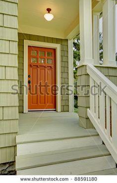 house colors. orange door