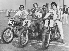 Romero on the right with his Triumph flat tracker