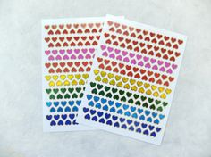 Colorful tiny heart glossy stickers by eastmeetswest on Etsy (Craft Supplies & Tools, Scrapbooking Supplies, decor sticker, sticker, cartoon sticker, kawaii sticker, back to school, school supplies, scrapbook sticker, cute stationery, heart, heart sticker, red heart stickers, heart sticky, colorful heart)