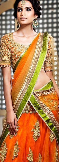 orange and green color combo